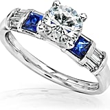Kobelli Jewelry Gold Engagement Ring With Diamond and Sapphire