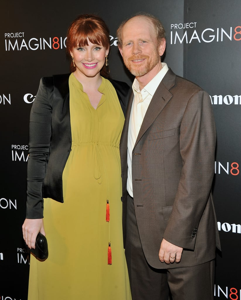 Bryce Dallas Howard and Ron Howard arrived at the NYC screening of their film, When You Find Me.