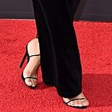 Kim Kardashian's Velvet Dress and Sandals at Creative Emmys