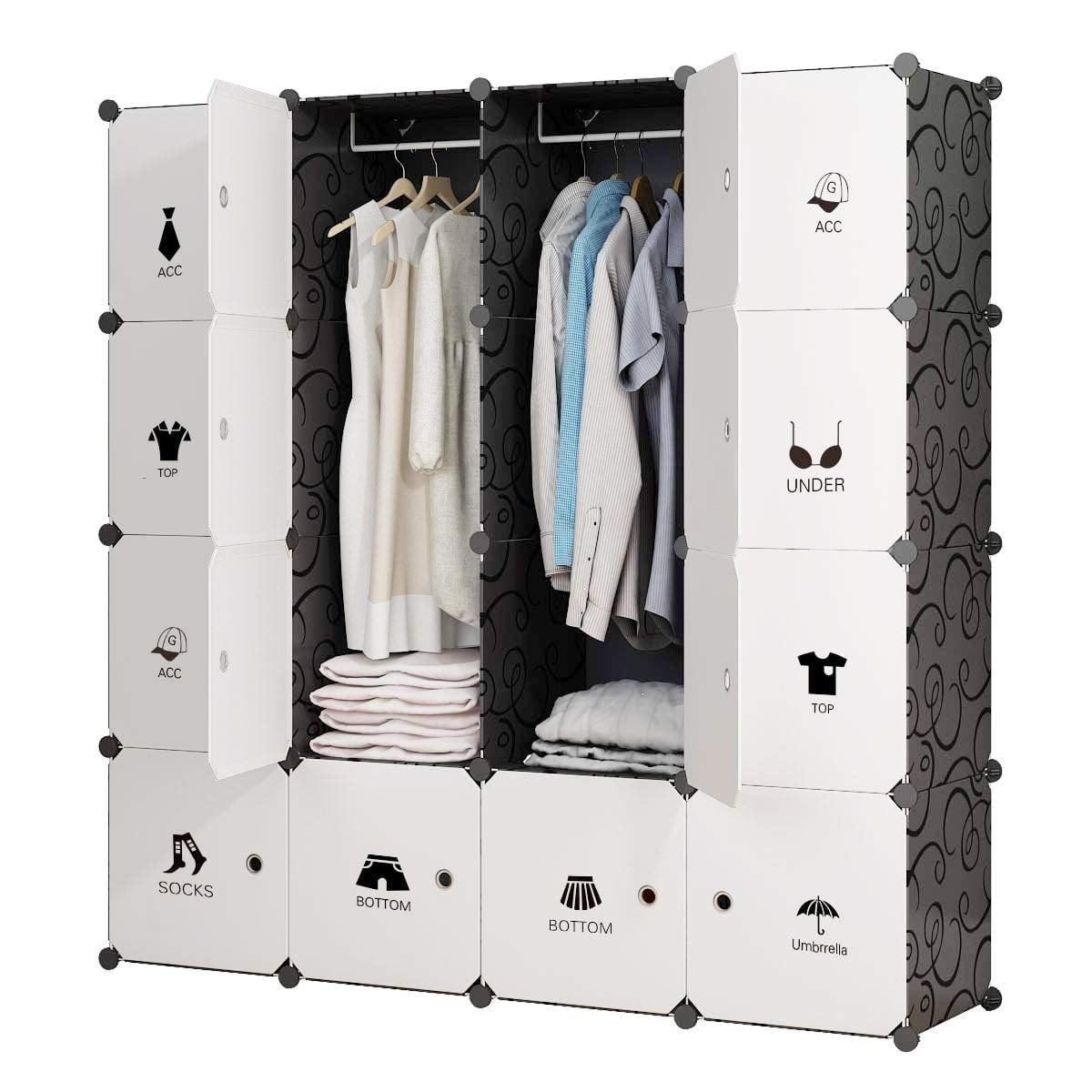 Kousi Portable Closet Wardrobe Cube 100 Closet Organizers
