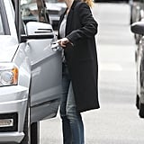 Drew Barrymore kept it casual as she left her office in LA.