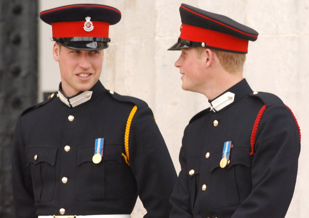 They smiled at each other during the Sovereign's Parade in April 2006.