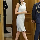 Queen Letizia Is Already Wearing the Dress You'll Be Seeing All Fall