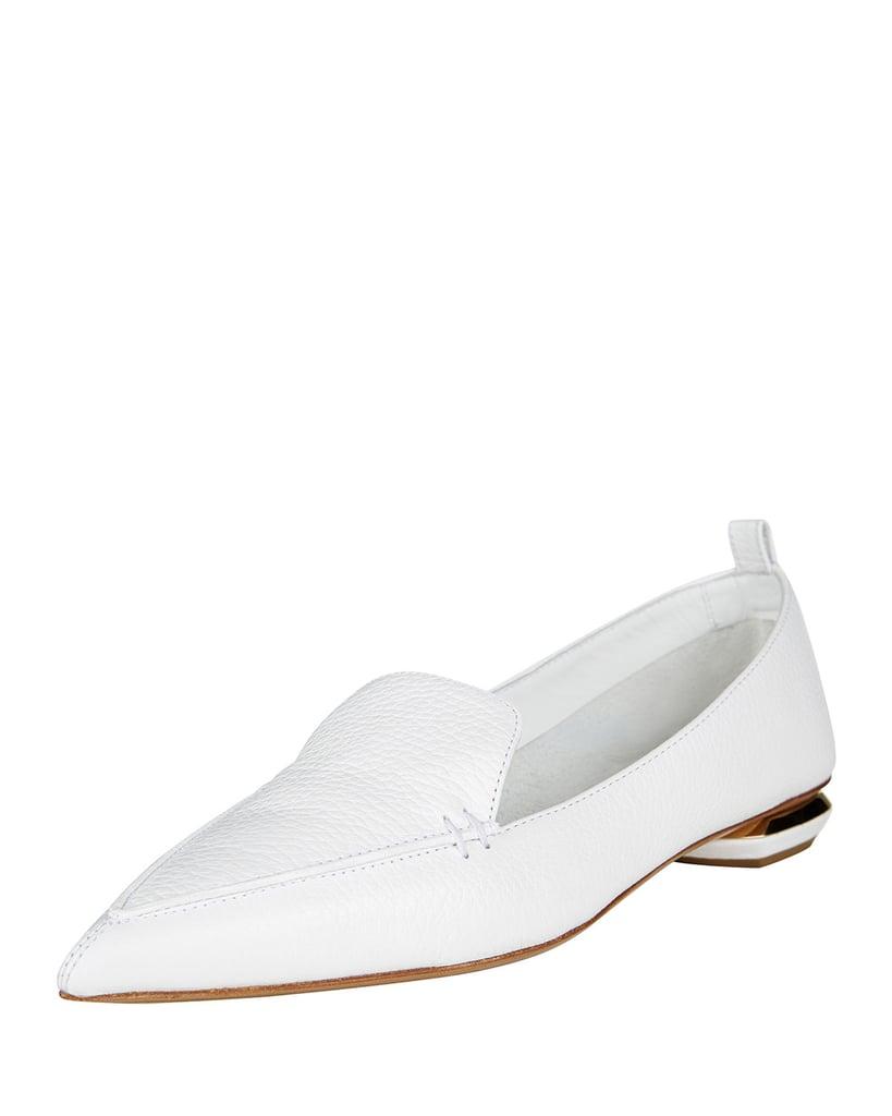 Nicholas Kirkwood Pebbled Leather Point-Toe Loafer ($425)