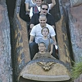 Reese Witherspoon, Jim Toth, Ava, and Deacon rode Splash Mountain during a Nov. 2011 trip to Disneyland.