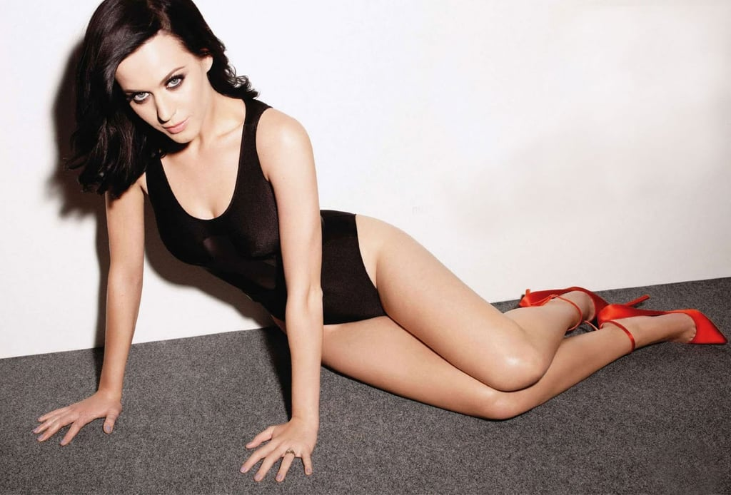 She stripped down to a black leopard and heels for Maxim's January 2011 issue.