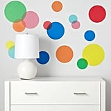 See Clearly Rainbow Polka Dot Decals