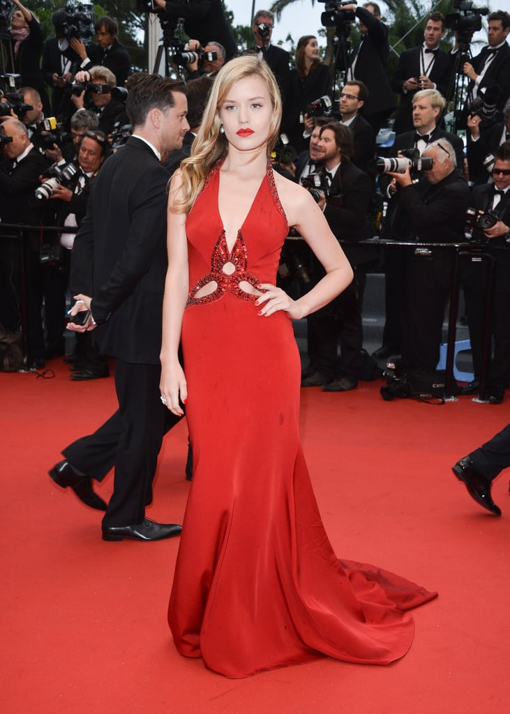 Georgia May Jagger in Roberto Cavalli at the Cannes premiere of The Great Gatsby.