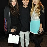 Designer Phillip Lim posed with Atlanta de Cadenet and Harley Viera Newton at his show.