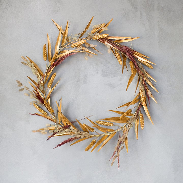 Terrain Home Decor: Golden Wheat Wreath