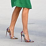 Melania Trump's Green Dress and Christian Louboutin Heels