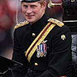 Prince Harry attended the Trooping the Colour ceremony in London.