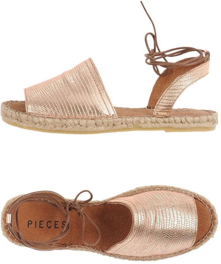 Kick back and relax in these Pieces Espadrilles Sandals ($93)