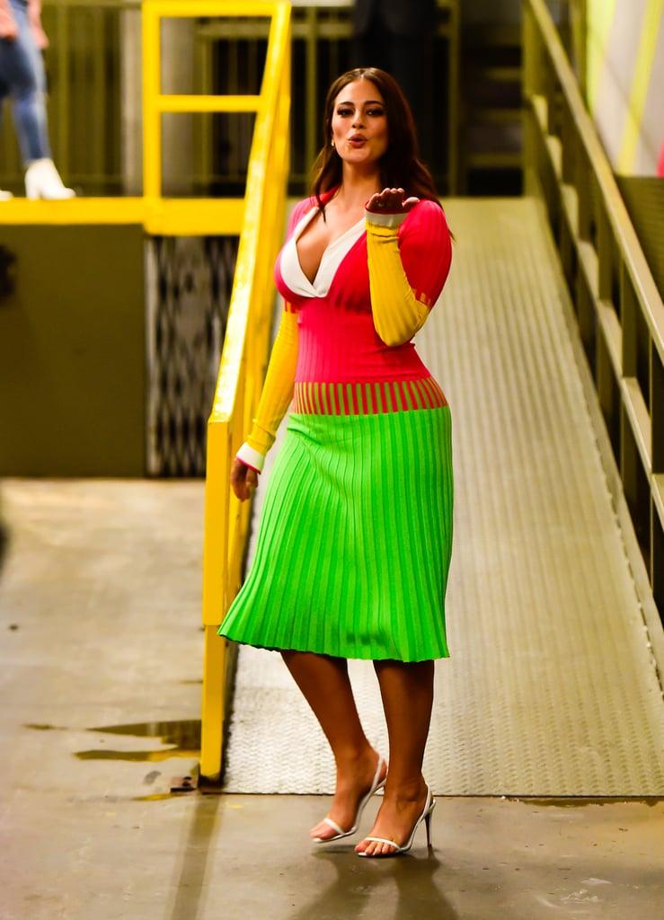 Ashley Graham Prabal Gurung Sweater Dress October 2018 Popsugar
