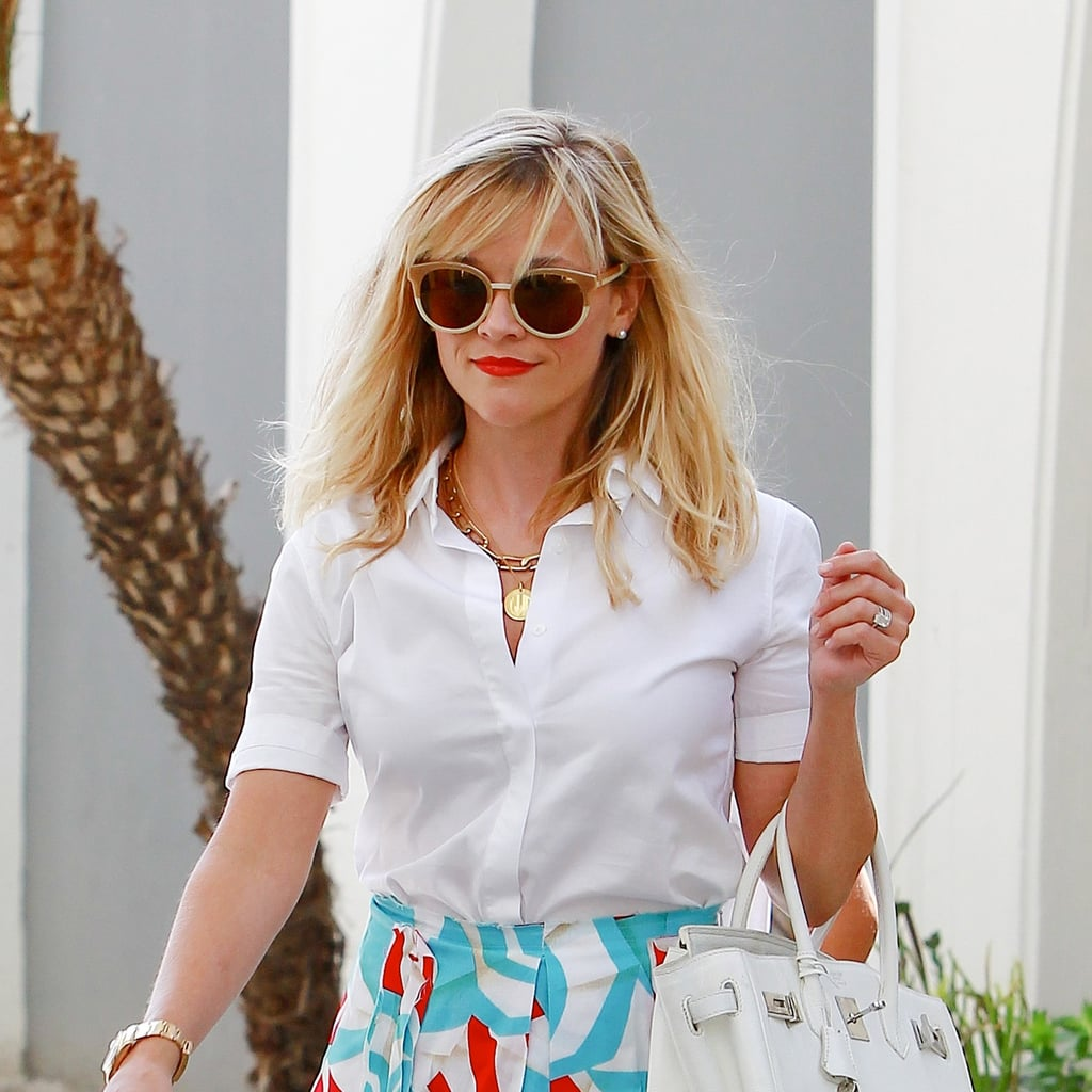 Reese Witherspoon's Red Lip Is Your New Default Weekend Style