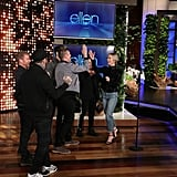 Emily Blunt Singing With Backstreet Boys on The Ellen Show