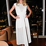 Doutzen Kroes was too pretty to miss in a white dress and nude pumps at the Vanity Fair and NBC bash.