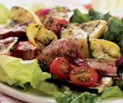 Fast & Easy Dinner: Grilled Everything Salad With Pesto Vinaigrette