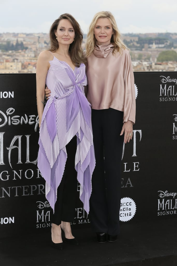 Angelina Jolie's Lavender Butterfly Top Is Mesmerizing
