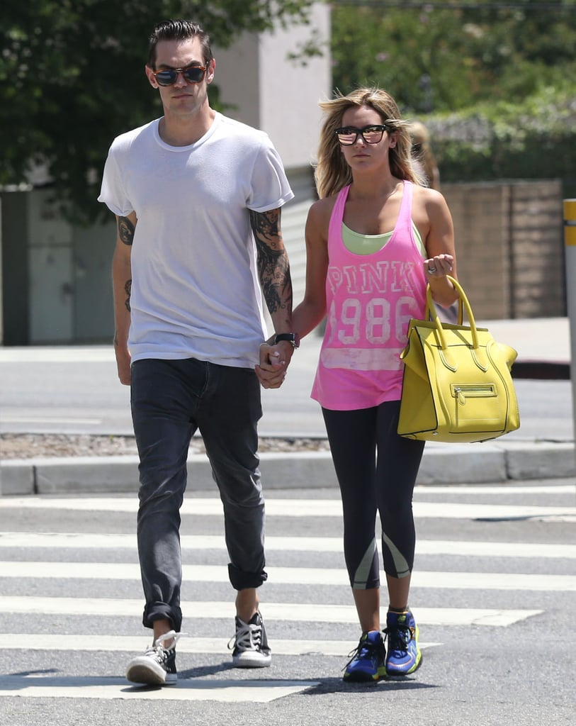 Ashley Tisdale and Christopher French walked around West Hollywood.