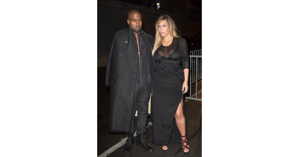 kim kardashian at givenchys spring 2014 runway show kim