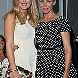 Cameron Diaz and Bar Refaeli at Paris Fashion Week.