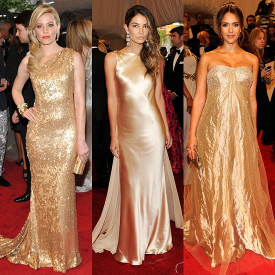 Gold Dresses at the Met Gala 2011