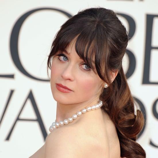 Zooey Deschanel | Golden Globes Hair 2013