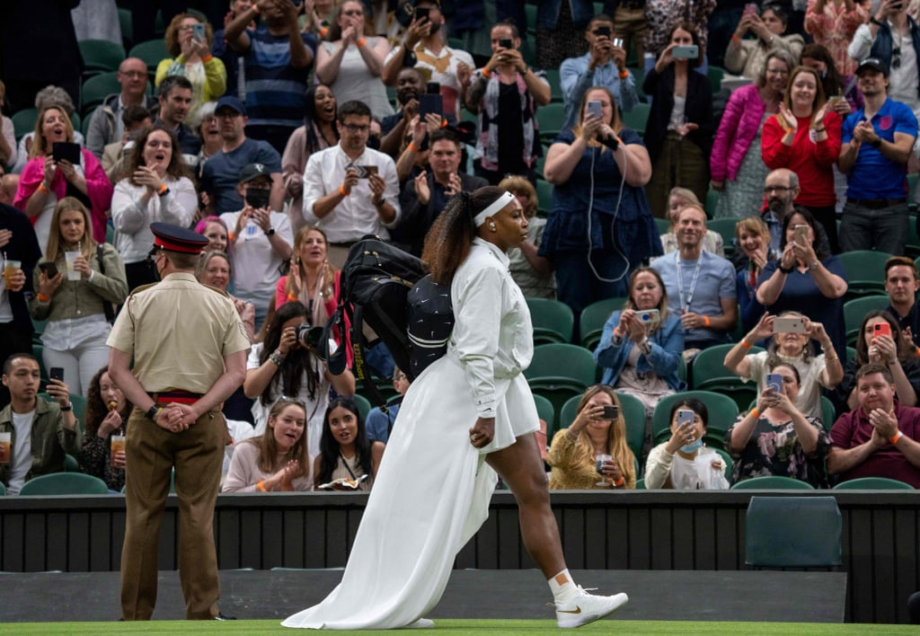 Serena Williams Elegantly Stepped Onto the 2021 Wimbledon Court in This Ethereal White Dress