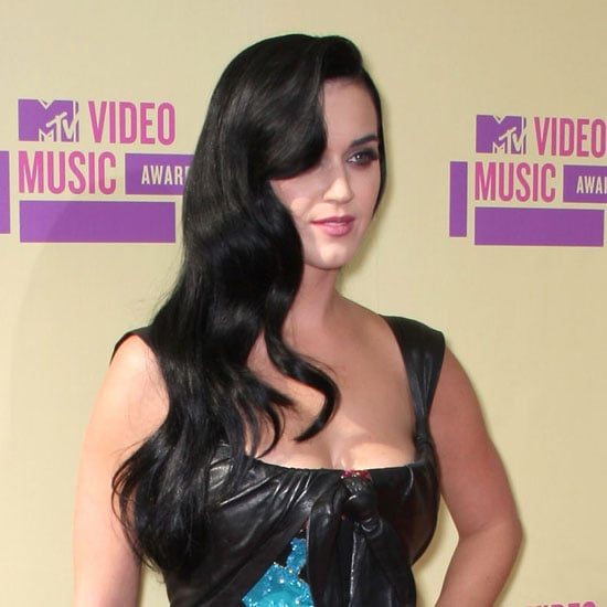 Katy Perry With Long Black Hair Extensions at the 2012 MTV Video Music Awards