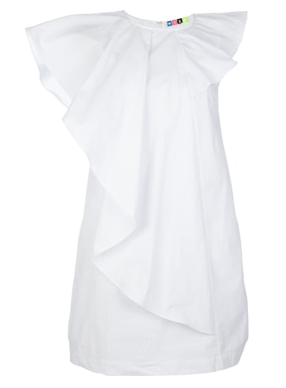 For the girl who wants to show off her legs — in an appropriate way — try this MSGM Ruffled Shift Dress ($227). Its crisp white finish paired with a shorter hemline and asymmetrical winged sleeve provides enough sophistication to offset the skin-revealing note. Bonus: it also comes in a soft pink hue!