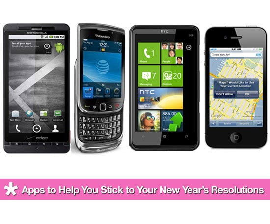 iPhone, Blackberry and Android Apps To Help You Stick To Your New Years Resolutions