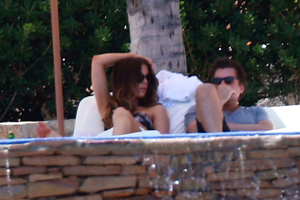 Kate Beckinsale donned a strapless bikini during a family vacation in Los Cabos, Mexico, in August.