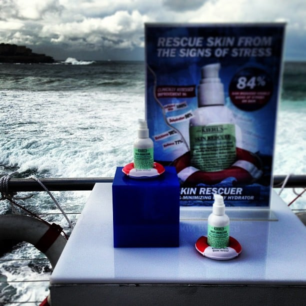 The beautiful, moody backdrop at Icebergs in Bondi almost stole the attention away from Kiehl's' new Skin Rescue prods. Almost.