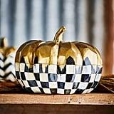 Mackenzie Childs Medium Golden Frost Pumpkin