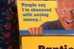 Dirty Old Man Advertising Panty Sale