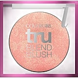 """CoverGirl TruBlend Blush ($10) was the final step for Zendaya's complexion. """"The end look is flawless, yet my skin shines through and I don't feel overly made up,"""" she wrote."""