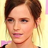 Emma went with pink lips and a braid band.