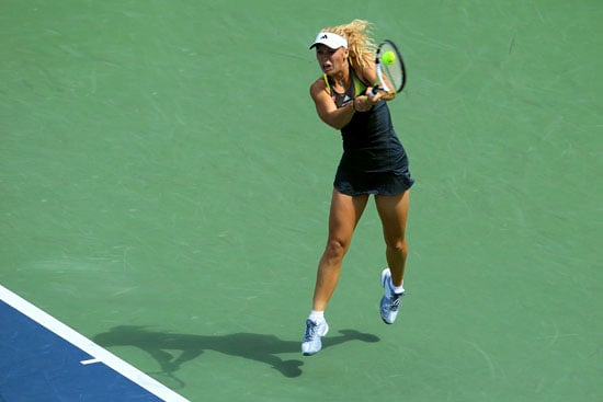 Caroline Wozniacki Whips the Yellow Ball