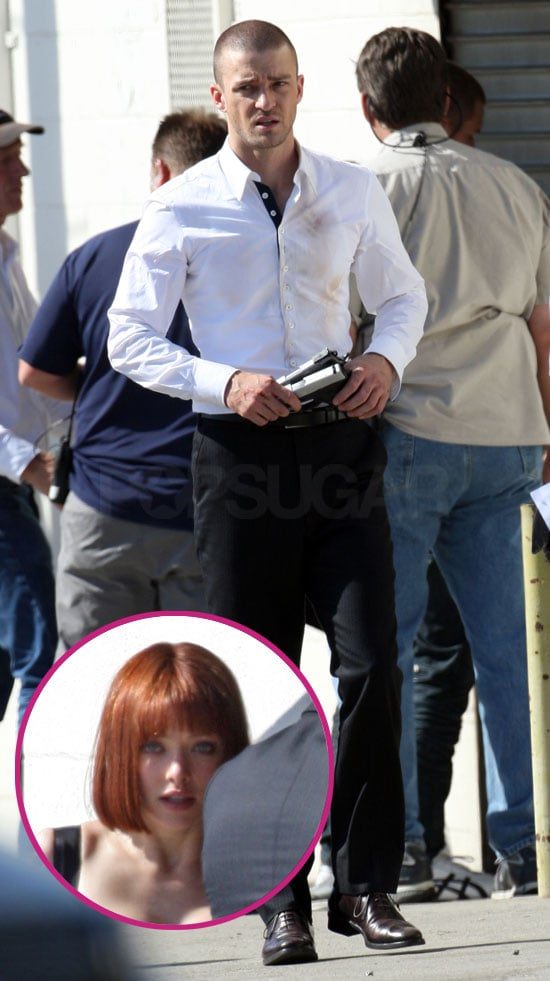 Pictures Of Justin Timberlake With Short Hair Filming I M Mortal With Amanda Seyfried In La Popsugar Celebrity Uk