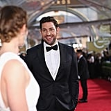 John Krasinski only had eyes for Emily Blunt on their way into the show.