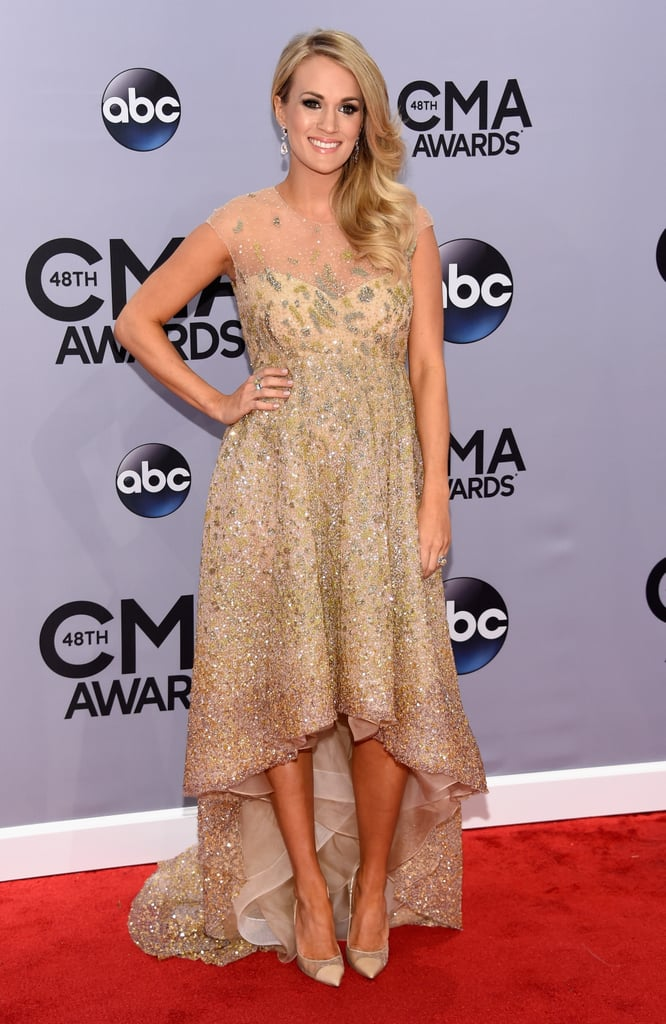 Carrie Underwood Debuts Her Baby Bump on the CMAs Red Carpet