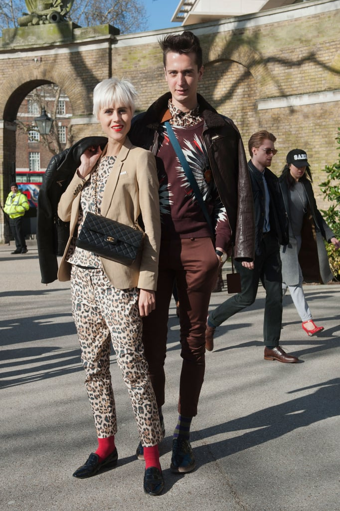 His and hers leopard print.