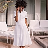 Gal Meets Glam Collection Judith Puff Sleeve Cotton Eyelet Dress