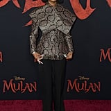 Marsai Martin at the World Premiere of Mulan in LA