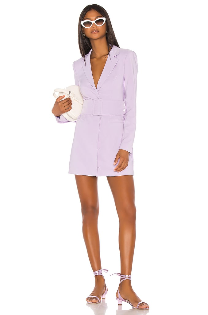 Song of Style Etta Blazer Mini Dress in Lilac Purple from Revolve.com