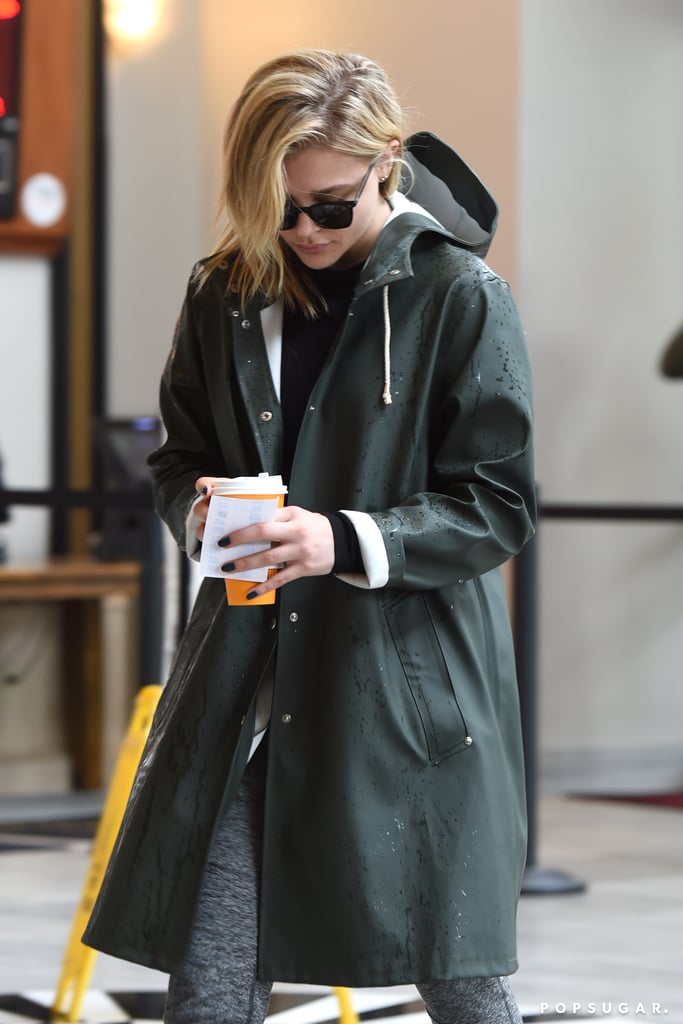 "Did Chloë Grace Moretz hint at her breakup with Brooklyn Beckham weeks ago? It sure seems that way. On March 21, the 21-year-old actress was spotted heading into a movie theater with a male friend in LA. Chloë kept a low profile in a raincoat and sunglasses, but noticeably missing from her left hand was her gold ""B"" ring. Brooklyn and Chloë got the matching initial rings back in December 2017 and usually wore them on their left hands.  Chloë and Brooklyn have been dating on and off since 2014, but it seems they are finally done for good. Over the weekend, Brooklyn was photographed making out with Playboy model Lexi Wood at a tattoo parlor in West Hollywood. That same day, Chloë seemingly responded to the cheating rumors by sharing a screenshot of Cardi B's song ""Be Careful"" on her Instagram stories. The track is about infidelity in a relationship and features lyrics such as ""Be careful with me, do you know what you doin'? / Whose feelings that you're hurtin' and brusin'? / You gon' gain the whole world / But is it worth the girl that you're losin'?""  The last time we saw the pair out together was on March 11 when they were seen kissing on the street in NYC. Both Brooklyn and Chloë have yet to publicly address their split.      Related:                                                                                                           Breakup to Makeup: 38 On-Again, Off-Again Celebrity Couples"