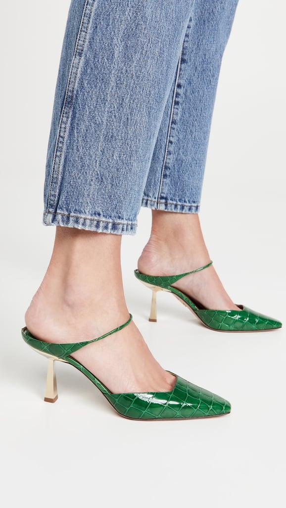 Something Green: Aquazzura Iconic 75mm Mules