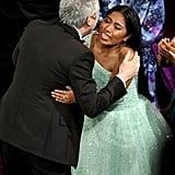 Pictured: Alfonso Cuaron and Yalitza Aparicio