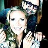 Heidi Klum shared a photo with her glam squad. Source: Twitter user heidiklum